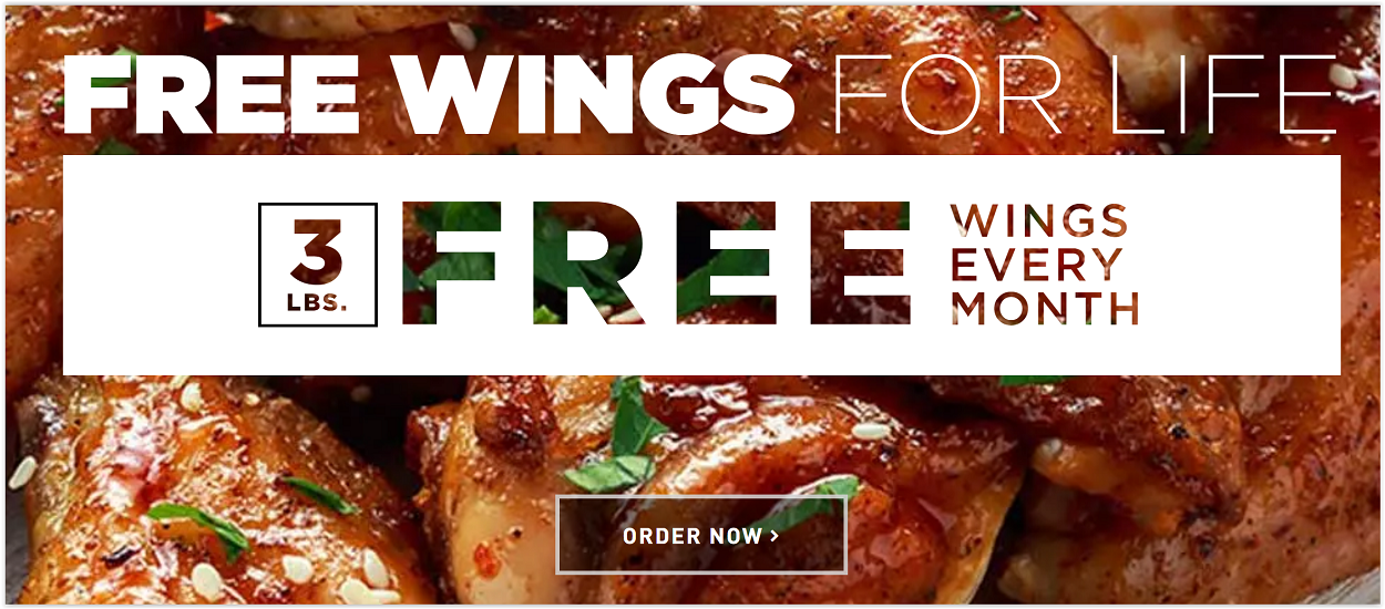 Free Wings for Life from Butcher Box